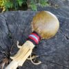 Small Medicine Rattle with yarn