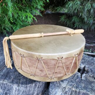 Native American Sweat Lodge Drum 16 inches