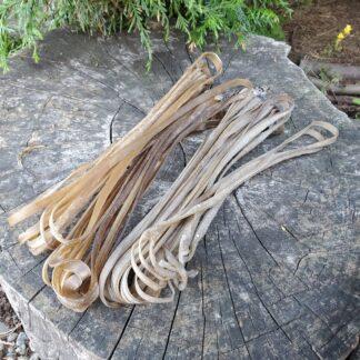 Elk rawhide lacing
