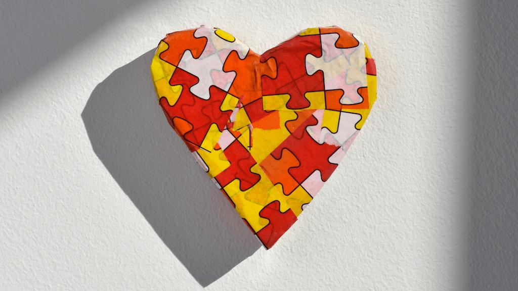 Autism heart symbol