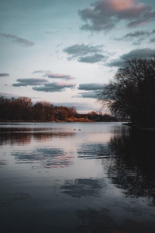 Rural Minnesota. Open landscape of water.