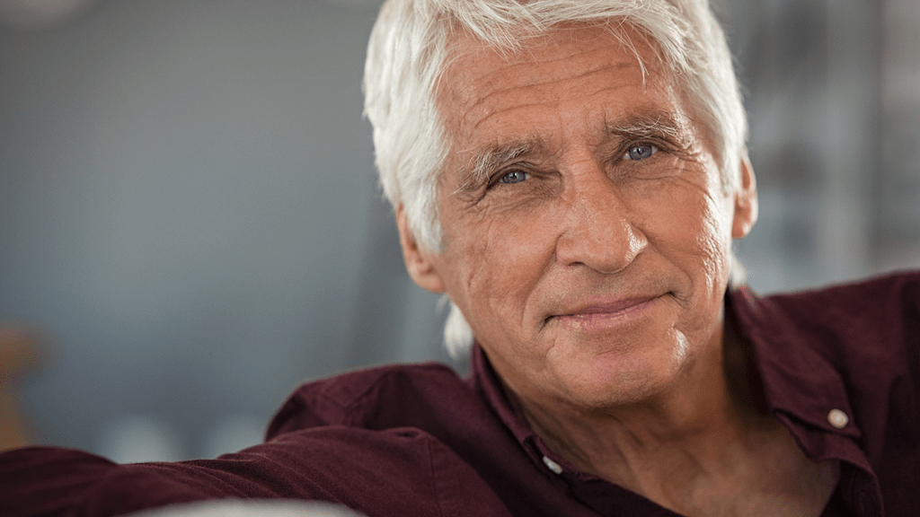 Older man living with cataracts