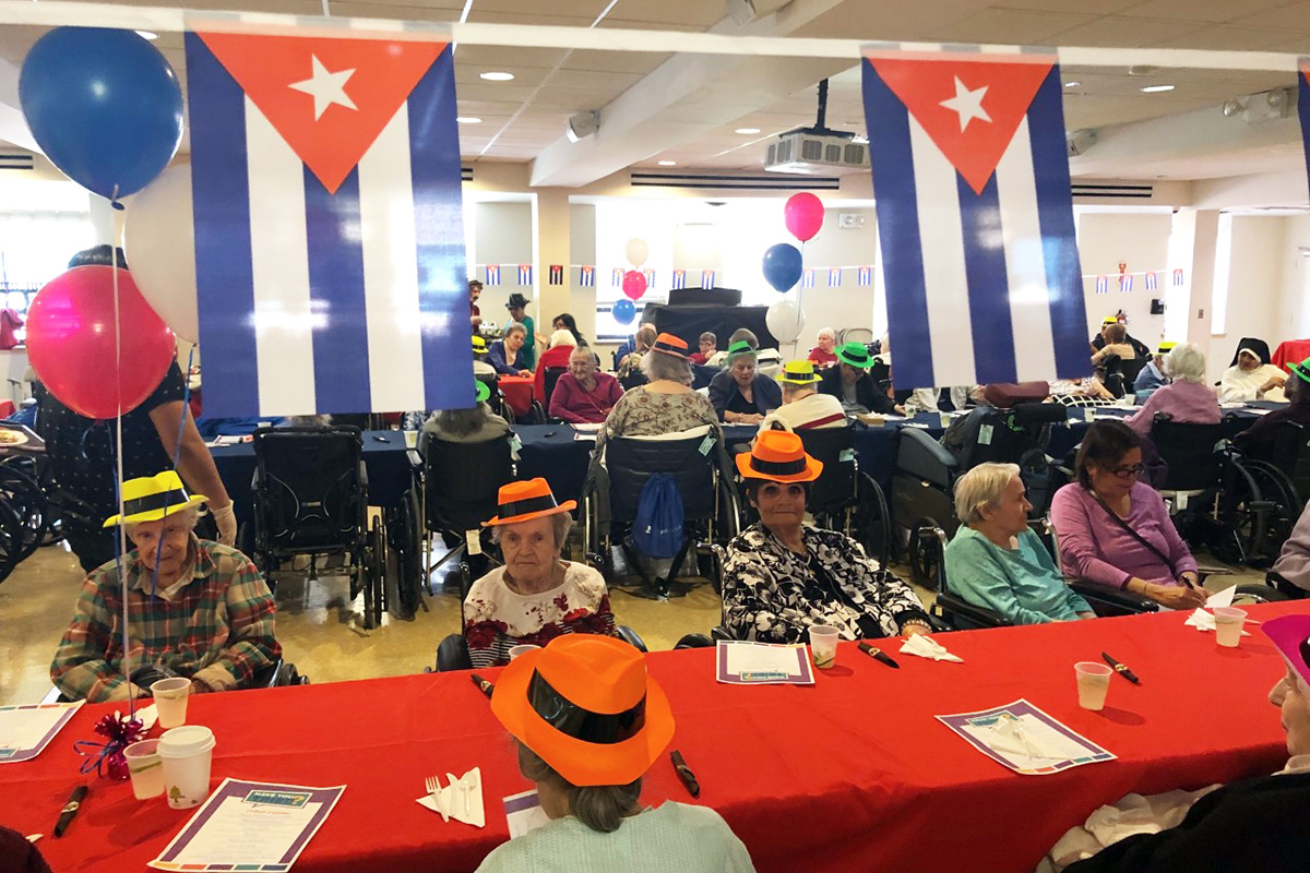 Senior patients and residents at a Providence Rest social event.