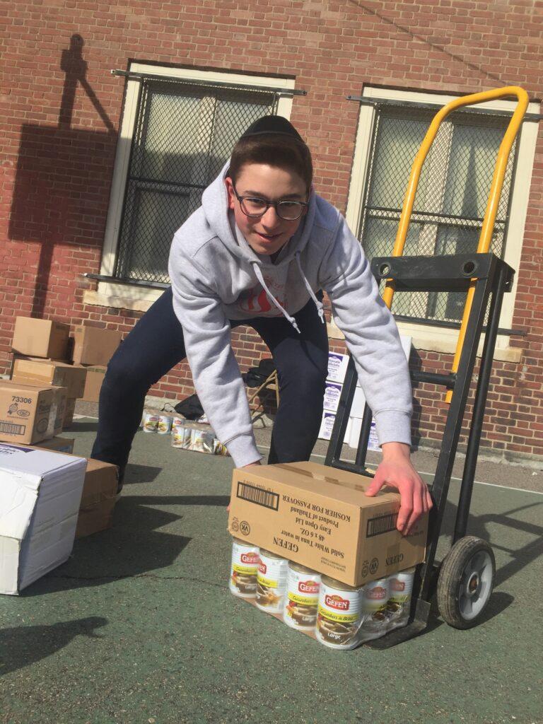 A jewish boy volunteering