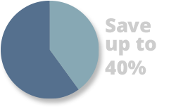 Save up to 40% on energy costs