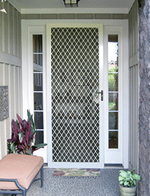 Traditional front entry security door