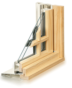 Integrity Wood-Ultrex window detail showing construction and divided lite