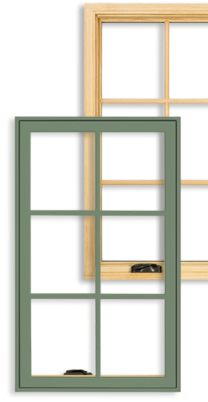 Integrity Wood-Ultrex Insert Casement Replacement Windows with divided lites