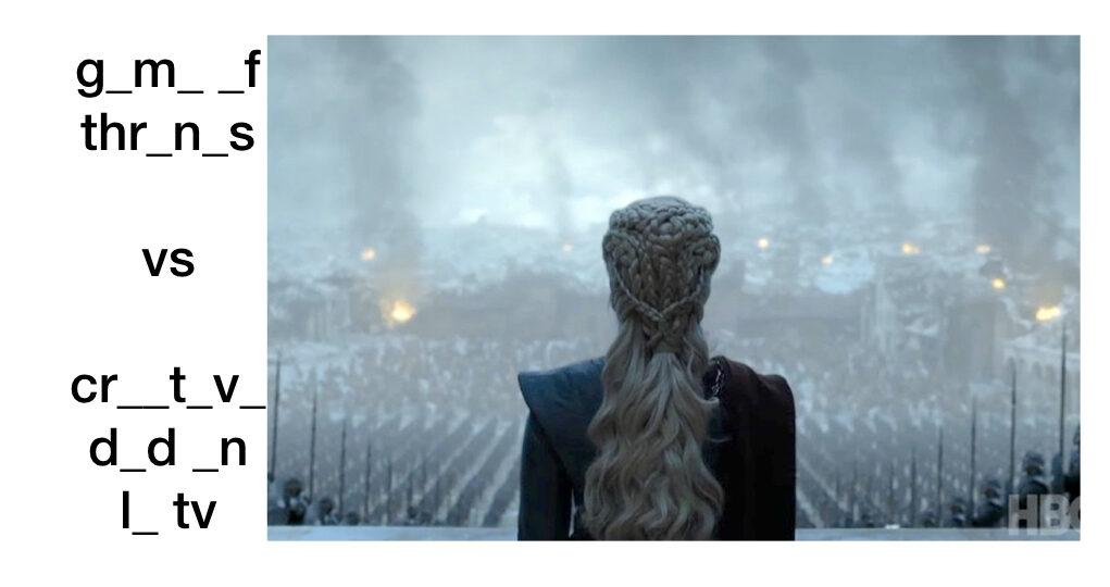 final de game of thrones creatividad en la tv