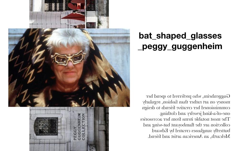 Lentes de Peggy Guggenheim