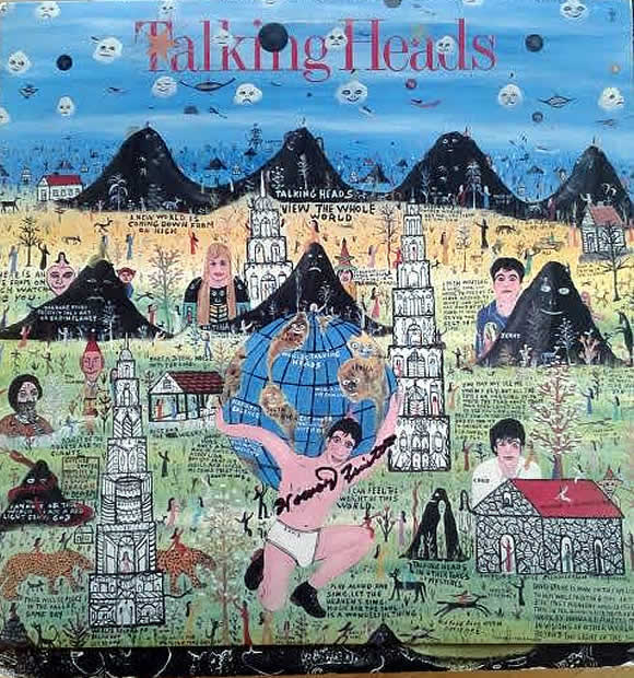Howard Finster Signed Talking Heads Album Cover