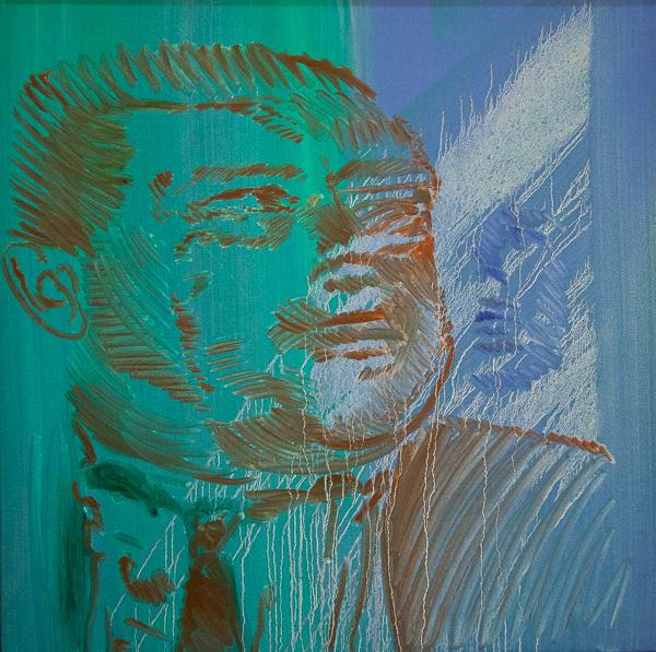 """Original Peter Hurley art - Board of Trade #2 Series 25""""x25"""" $600"""