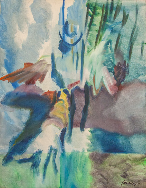 """Original Peter Hurley art - Man In Hat Series #1 38""""x30"""" $1000"""