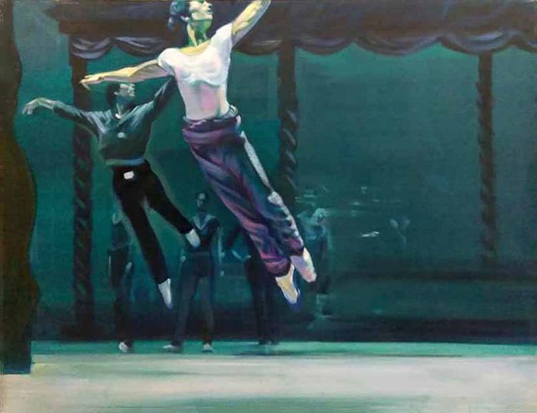 "Original Peter Hurley art - Ballerina Series #16 48""x60"" $2000"