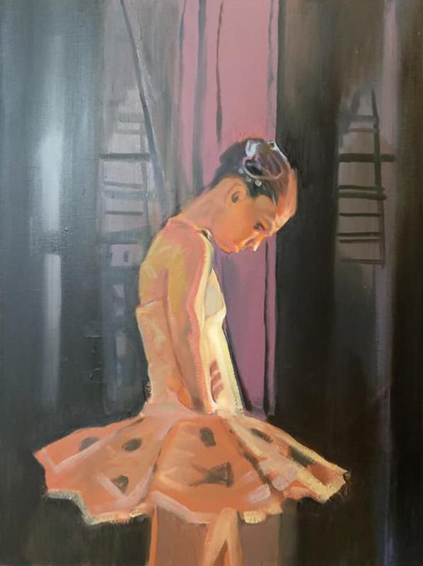 "Original Peter Hurley art - Ballerina Series #14 40""x30"" $1000"