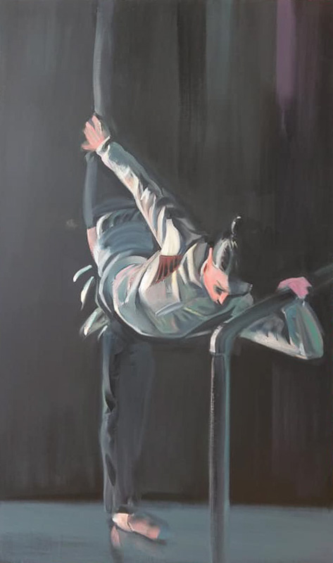 "Original Peter Hurley art - Ballerina Series #18 60""x36"" $2000"