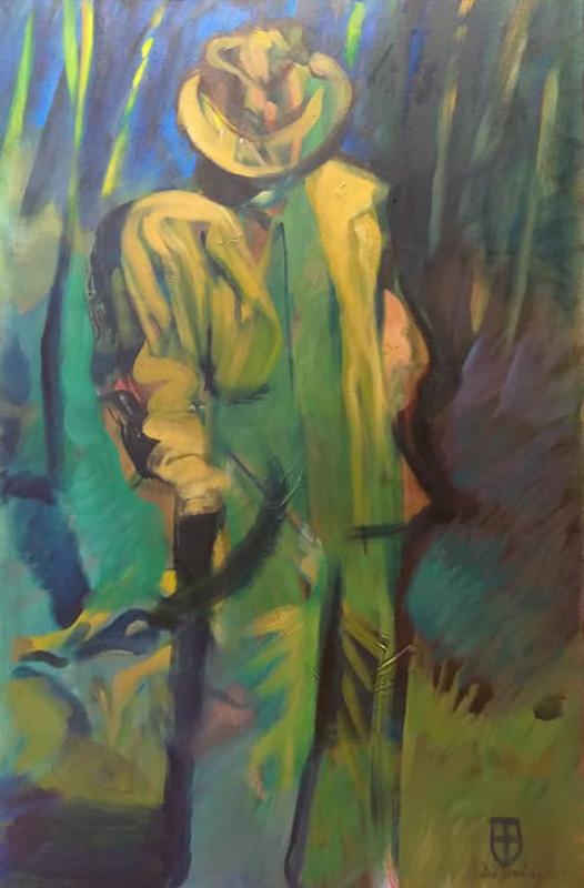 """Original Peter Hurley art - Man In Hat Series #2 36""""x24"""" $800"""