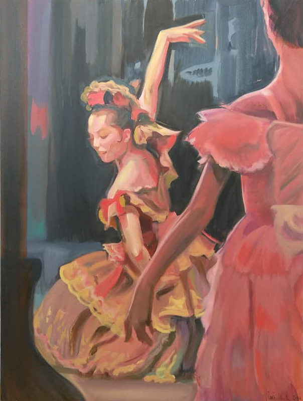 "Original Peter Hurley art - Ballerina Series #7 48""x36"" $1200"