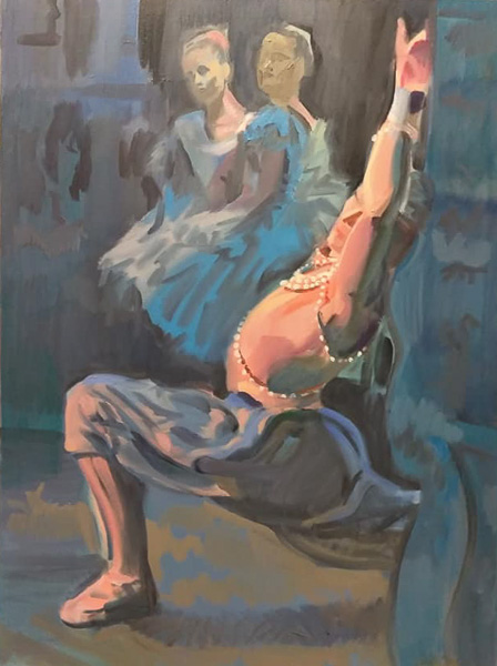 "Original Peter Hurley art - Ballerina Series #9 48""x36"" $1200"