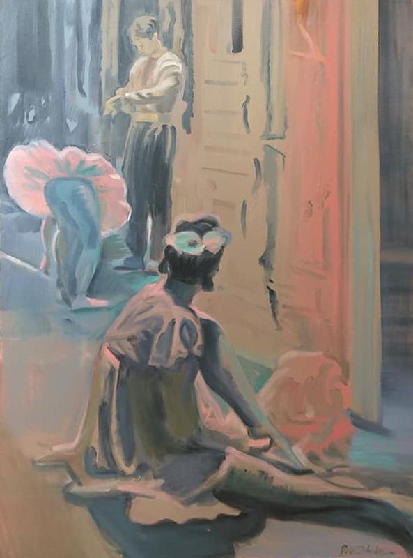 "Original Peter Hurley art - Ballerina Series #6 48""x36"" $1200"