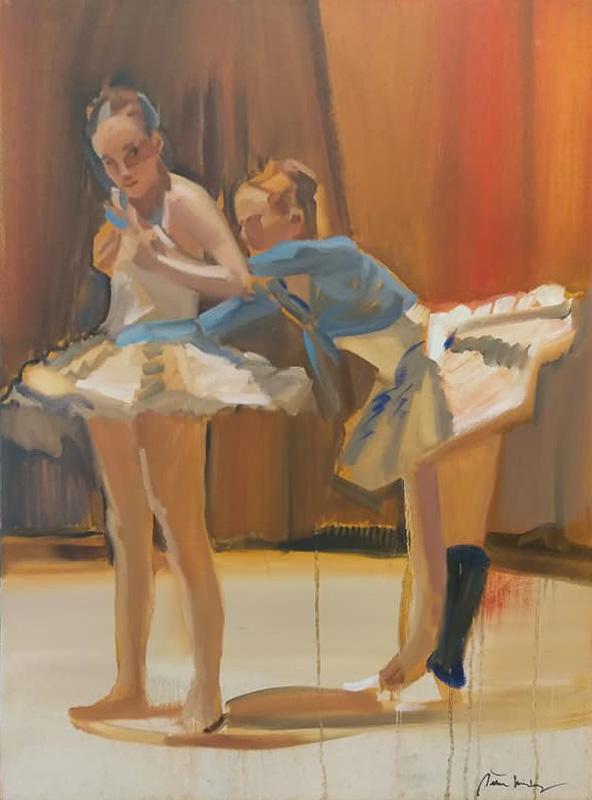 "Original Peter Hurley art - Ballerina Series #12 40""x30"" $1000"