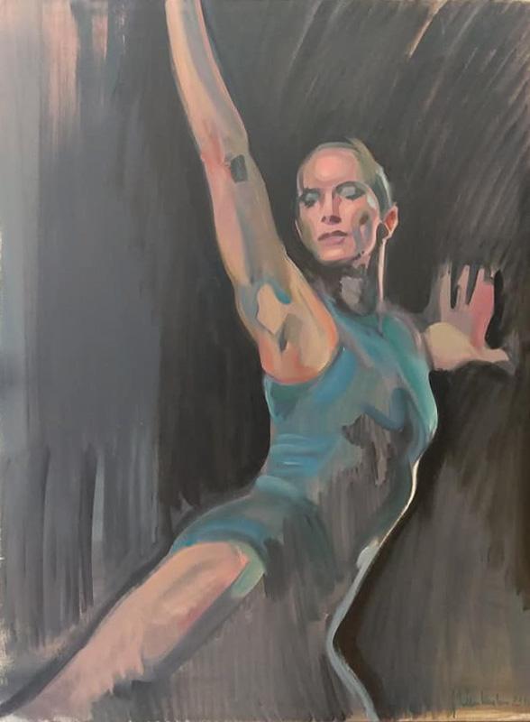 "Original Peter Hurley art - Ballerina Series #22 48""x36"" $1200"