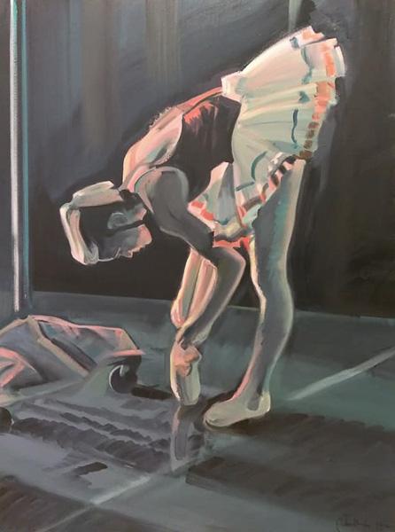"Original Peter Hurley art - Ballerina Series #4 48""x36"" $1200"