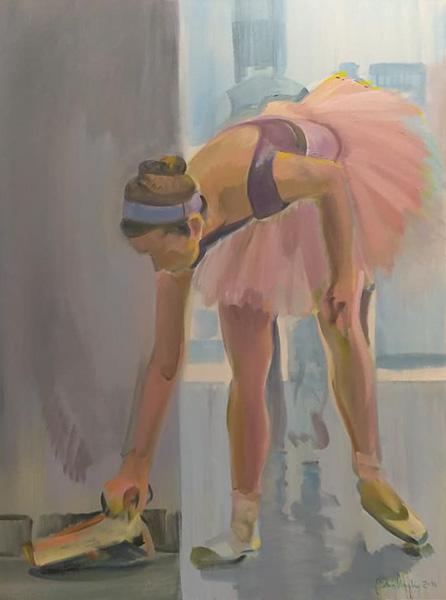 "Original Peter Hurley art - Ballerina Series #2 48""x36"" $1200"