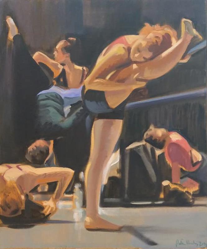 "Original Peter Hurley art - Ballerina Series #20 24""x18"" $700"