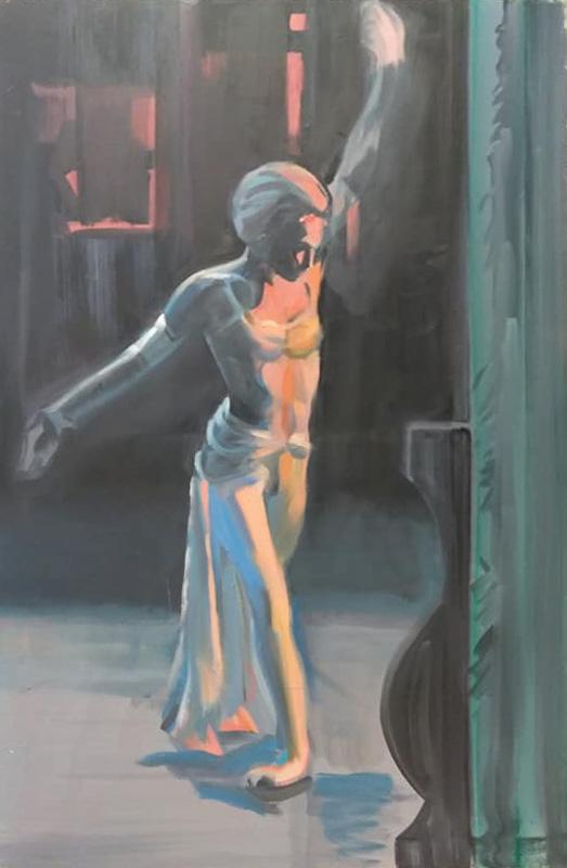 "Original Peter Hurley art - Ballerina Series #13 40""x30"" $1000"
