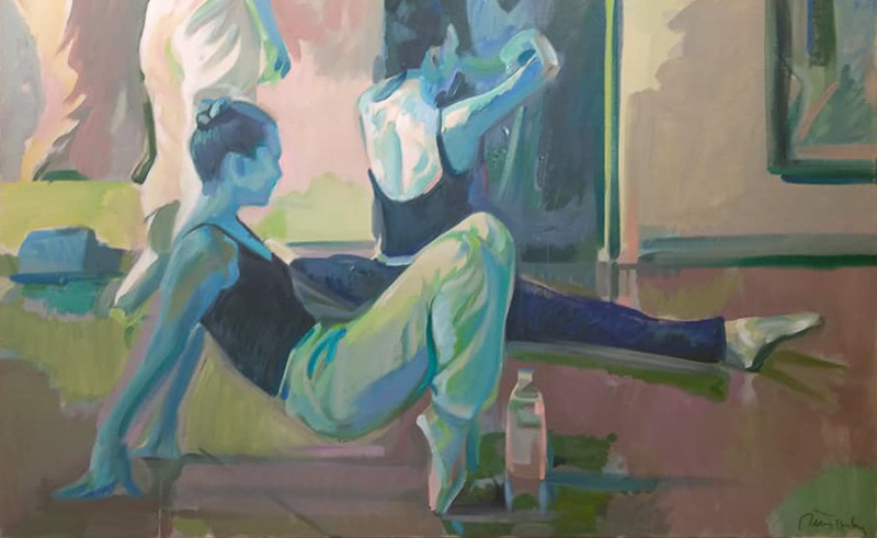 "Original Peter Hurley art - Ballerina Series #15 30""x40"" $1000"