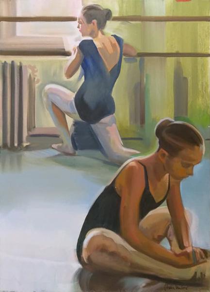 "Original Peter Hurley art - Ballerina Series #17 40""x30"" $1000"