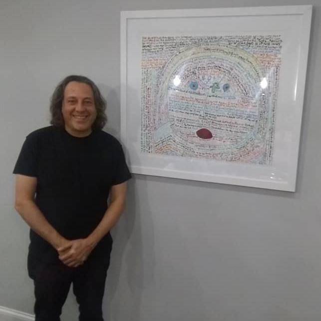 david leonardis with his original art