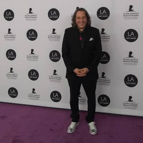 david leonardis at the LA art show