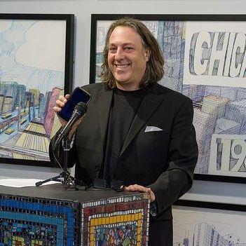 david leonardis on the microphone