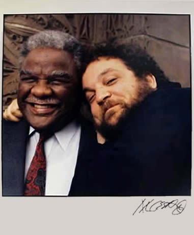 Marc Hauser signed photograph Chicago Mayor Harold Washington & Marc Hauser Color Fiber Print