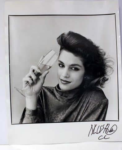 Marc Hauser signed photograph Cindy Crawford 1 Silver Gelatin Fiber Print