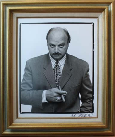 Marc Hauser signed photograph Dennis Franz - Det. Andy Sipowicz - NYPD Blue Silver Gelatin Fiber Print
