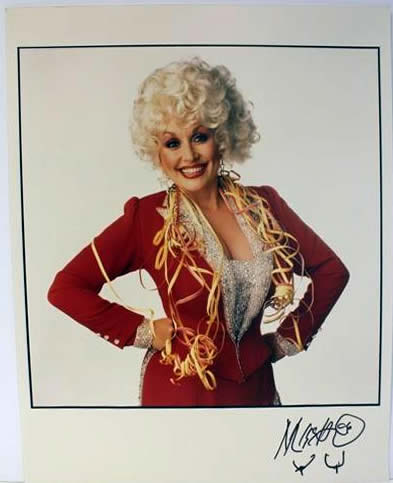 Marc Hauser signed photograph Dolly Parton Color Fiber Print