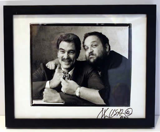 Marc Hauser signed photograph Phil Jackson & Marc Hauser Silver Gelatin Fiber Print