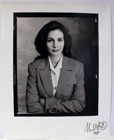 Marc Hauser signed photograph Julia Roberts Silver Gelatin Fiber Print