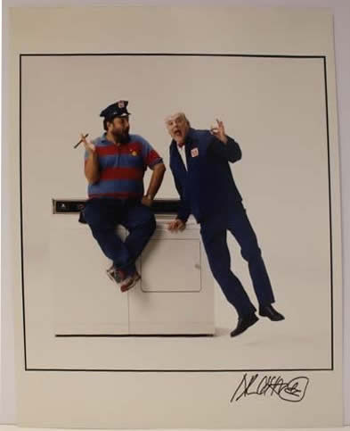 Marc Hauser signed photograph Maitag Repair Man Gordon Jump & Marc Hauser Color Fiber Print