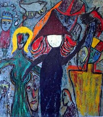 painting_three the leader matt lamb painting