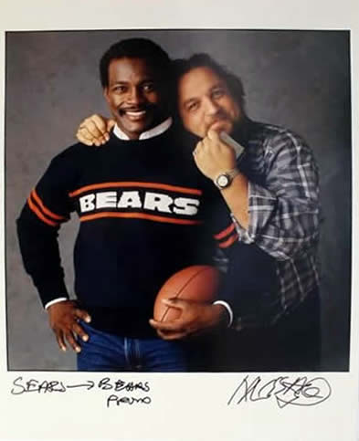 Marc Hauser signed photograph Walter Payton & Marc Hauser Color Fiber Print