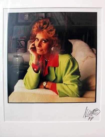 Marc Hauser photograph Sophia Loren Color Fiber Print