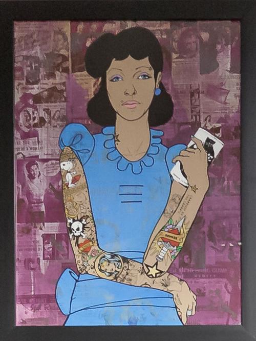 Donald Topp Cartoon Tattoo Hipster Girls - Lucy