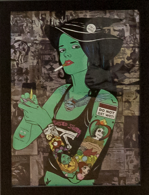 Donald Topp Cartoon Tattoo Hipster Girls - Elphaba