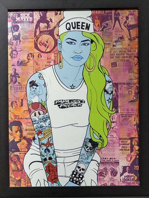 Donald Topp Cartoon Tattoo Hipster Girls - Smurfette