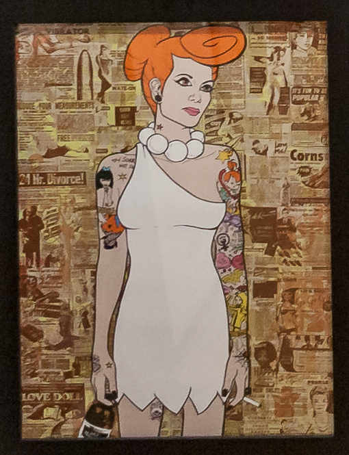 Donald Topp Cartoon Tattoo Hipster Girls - Wilma Flintstone