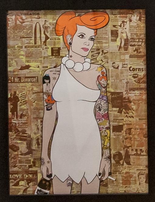 Donald Topp Cartoon Tattoo Hipster Girls - Wilma Flintstone
